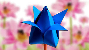 how to make lotus flower with paper for kids easy paper craft