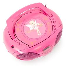 cd player kinderzimmer tragbare boombox aux stereo musik anlage pink kinder mädchen cd