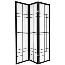 4 panel room divider ore international 5 9 ft black 4 panel room divider fw0676sb