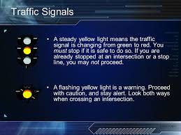A Flashing Yellow Signal Light Means 2006 Psen Unit 4 Let U0027s Go Driving Identification Evaluation