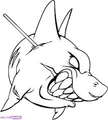 hammer head shark tattoo simple drawing of a shark how to draw a hammerhead shark step step