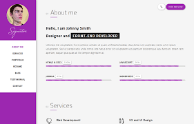 Free Resume Html Template 20 Best Cv Resume And Personal Portfolio Html Templates