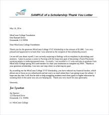 templates for scholarship awards sle scholarship thank you letter 11 documents in pdf word