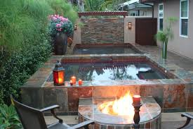 backyard tub home outdoor decoration