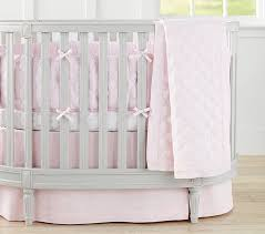 Crib Bedding On Sale Belgian Flax Linen Oval Baby Bedding Pottery Barn