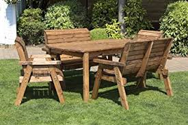 wooden table and bench patio table and bench set lovely 6 seater wooden garden table bench