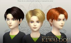 levi the sims4 child hair kewai dou
