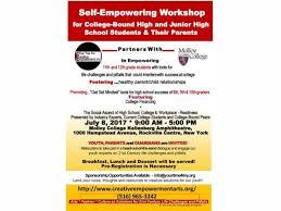 jul 8 self empowering workshop for college bound high