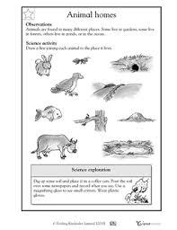 printable animal activities 1st grade 2nd grade kindergarten science worksheets animal homes