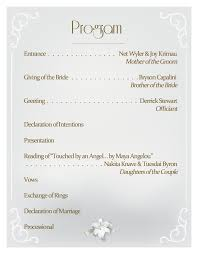 wedding reception programs lub you gladiola s