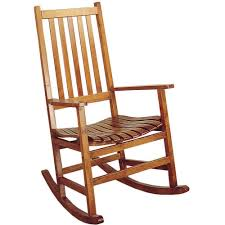 brown country style rocking chair porch deck outdoor wood rocker