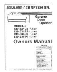 Overhead Door Programming Remote Overhead Door Operator Manuals Home Interior Design
