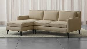 crate and barrel sofa sleeper rochelle small 2 piece sectional crate and barrel