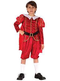 tudor king child boys tudor red prince costume fancy dress book week