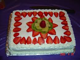 tres leches with fruit garnish cakecentral com