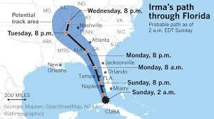la fg hurricane irma latest map the maravi post
