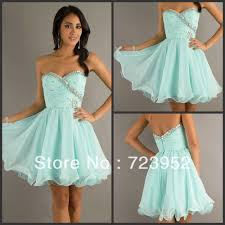 light blue short prom dresses fashion sweetheart organza