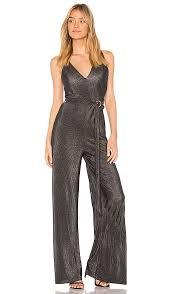 belted jumpsuit stylestalker lucian belted jumpsuit in metallic revolve