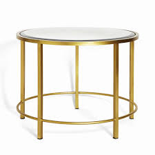 belgravia round coffee table brushed brass soho home