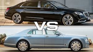 bentley maybach 2018 mercedes maybach s650 vs 2017 bentley mulsanne youtube