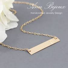 Gold Name Plated Necklace Gold Filled Name Plate Necklace