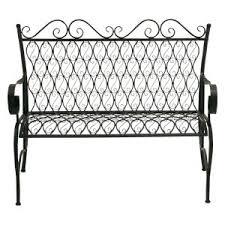 White Metal Outdoor Bench Wrought Iron Outdoor Benches On Hayneedle Wrought Iron Benches