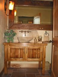 bathroom tongue and groove bathroom distressed wood vanity