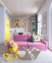 Apartment Theme Bright Homes In Three Styles Pop Art Scandinavian And Modern