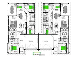 100 duplex floor plan 100 town house plans 03425 6