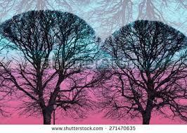 abstract mod wallpaper trees poplar double stock illustration