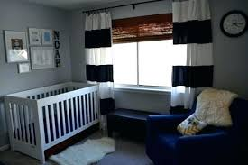 Navy Blue Curtains For Nursery Navy And White Striped Curtains Blue Grey Curtains Blue Grey Navy