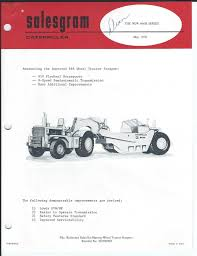 equipment brochure caterpillar 666b tractor scraper 1970