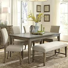 dining table with bench and chairs countryside chic 6 piece