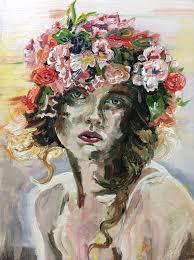 flower headdress saatchi flower headdress painting by philip ryland