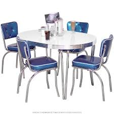 Retro Dining Room Furniture Dining Room Design And Decoration Using Tufted Blue Leather Retro