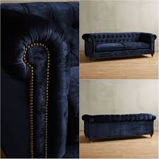 Navy Blue Tufted Sofa Oversized Chesterfield Sofa In Richly Hued Navy Blue Velvet