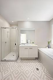 clarendon homes capri 24 main bathroom with feature floor tiles