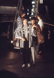 the beatles arriving on a japan airlines dc 8 55 for a five