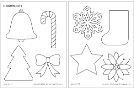 stencil printable ornament template merry