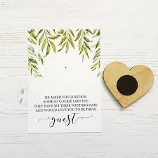 save the date in brush script save the date wooden heart magnet by design by eleven
