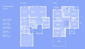 Palm Jumeirah Floor Plans by Al Furjan Villas Floor Plans Al Furjan Villas Style Dubai