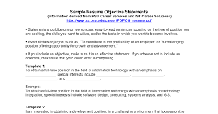 Sample Information Technology Resume Example Of Resume Objective For Information Technology