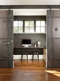 industrial interior feat home office sliding door made from metal