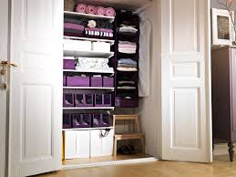 small walk closet organizing ideas in big wall with green paint