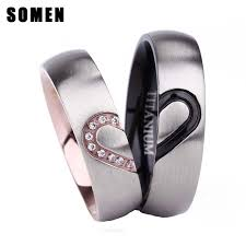 titanium wedding ring sets aliexpress buy 6mm cubic zirconia titanium ring set