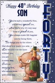 son s 40th birthday card u0027happy 40th birthday son u0027 great
