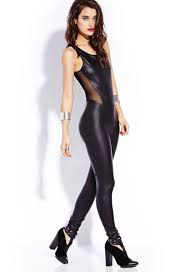standout faux leather jumpsuit forever21 2000090668 forever