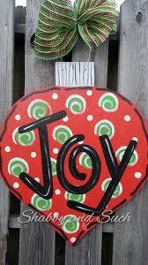 ornament door hanger painted wood door decor x