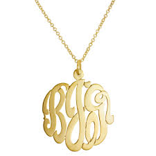 monogrammed necklaces 46 monogram pendant necklaces custom made 125quot monogram