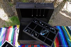 Steamer trunk jewelry display case handmade traveling salesman